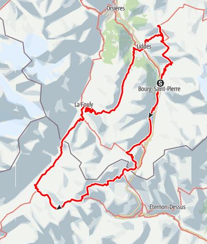Kaart / Tour de Grand St. Berhard