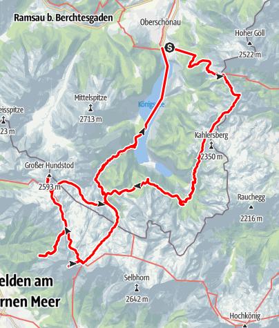 Kaart / Berchtesgadener Alpen