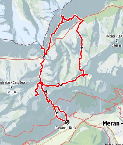 Kaart / Texel op z'n Zuid-Tirols 50-plus