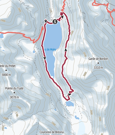 Map / Around Lac de Moiry from St Luc