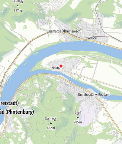 Térkép / Németh József köztéri szobrai és árvízi jelek (Kisoroszi)