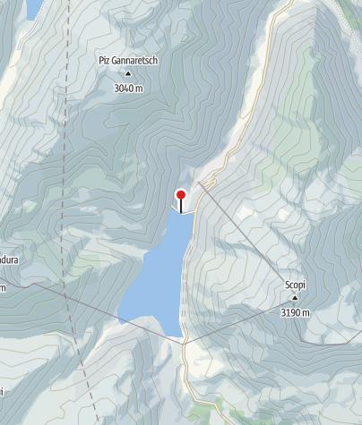 Karte / Stausee Santa Maria