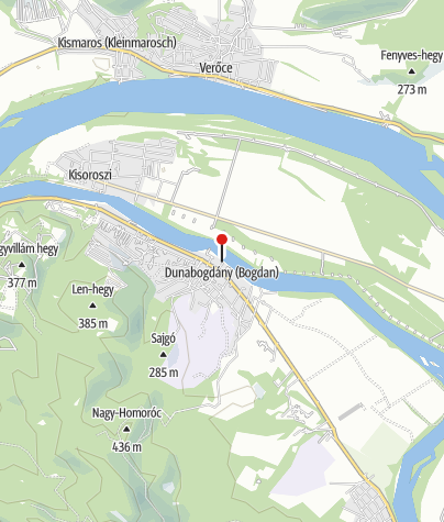 Mapa / Fizetős sátorhely (Dunabogdány)