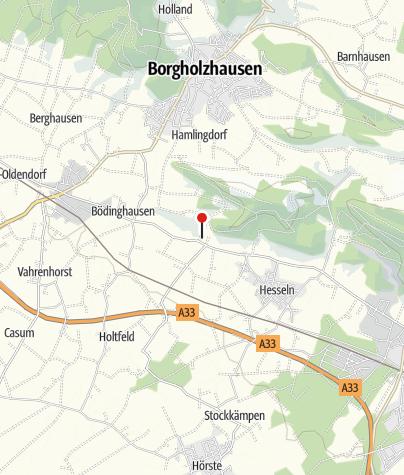 """Karte / Wanderparkplatz """"Clever Schlucht"""", Borgholzhausen"""