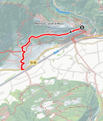 Map / Castel Juval - Waalweg Hike