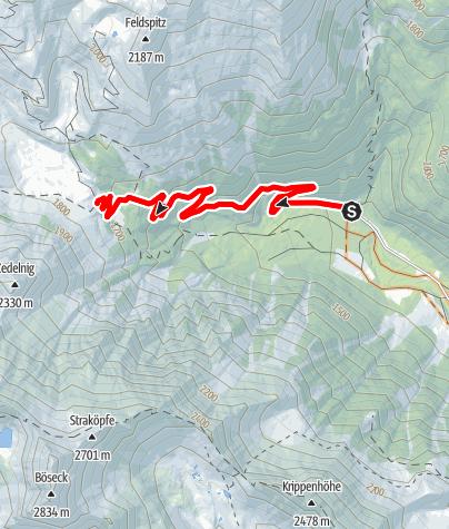 Karte / Rundstrecke Jamnigalm