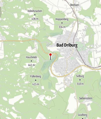 """Karte / Wanderparkplatz """"Schöne Aussicht"""", Bad Driburg"""