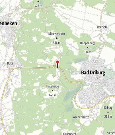 "Karte / Wanderparkplatz ""Alter Postweg"" Bad Driburg"