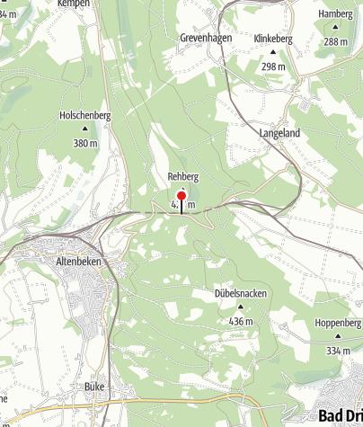 """Karte / Wanderparkplatz """"Rehberg"""" bei Altenbeken"""