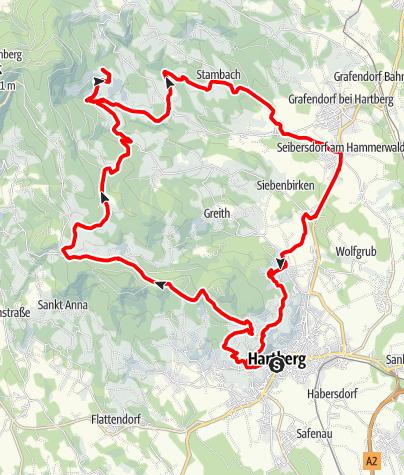 Karte / Mit der Vespa auf den Ringkogel Hartbergerland Tour 1