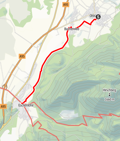 Karte / Wanderung - Nach Eschenlohe über Buchenried
