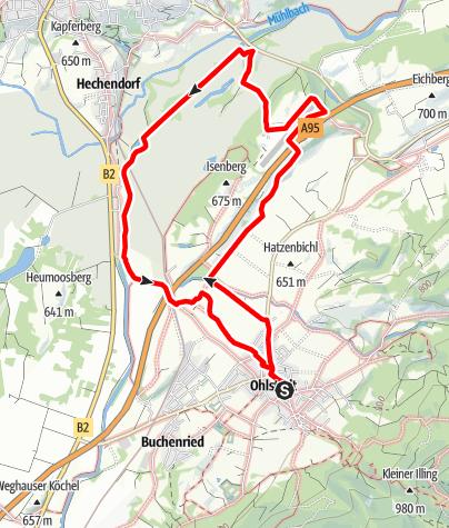 Karte / Wanderung - Pömetsried-Rundwanderweg