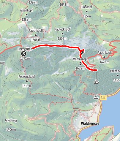 Karte / Bergtour - Gratwanderung vom Heimgarten zum Herzogstand