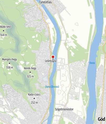 Térkép / Duna presszó, lángos, palacsinta (Leányfalu)