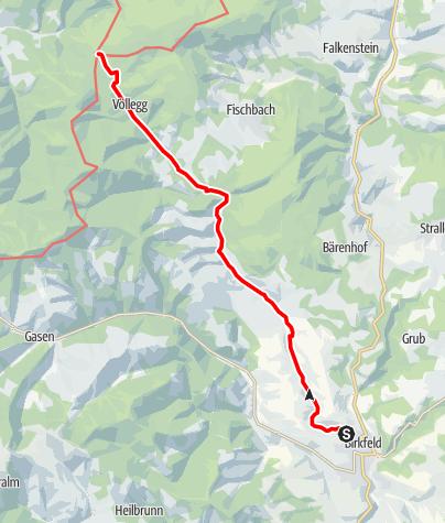 Karte / Mariazellerweg Abschnitt Birkfeld -  Schanzsattel