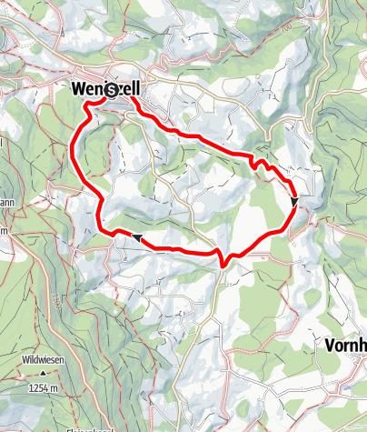 Karte / Rundweg Wenigzell - Lafnitzegg - Wenigzell, Nr. 2 (mit Abzweigung 2a)