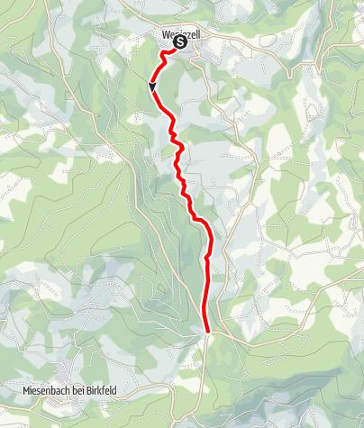 Karte / Wanderweg Wenigzell Nr. 913: Wenigzell - Kreuzwirt
