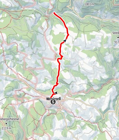 Karte / Wanderweg Wenigzell Nr. 913: Wenigzell - St. Jakob im Walde