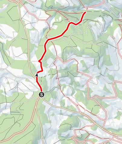 Karte / Wanderweg Wenigzell Nr. 918: Wetterkreuz - St. Jakob im Walde