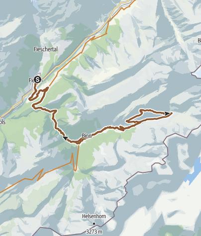 Map / Freichi round trip from Fiesch