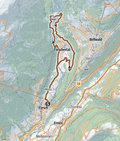 Map / Fieschertal lap