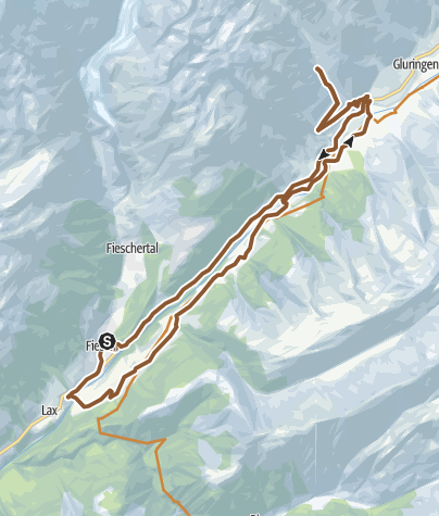 Map /  Wallibach round trip past Ernen