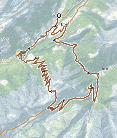 Map / From Heiligkreuz to Breithorn past Twingi Gorge