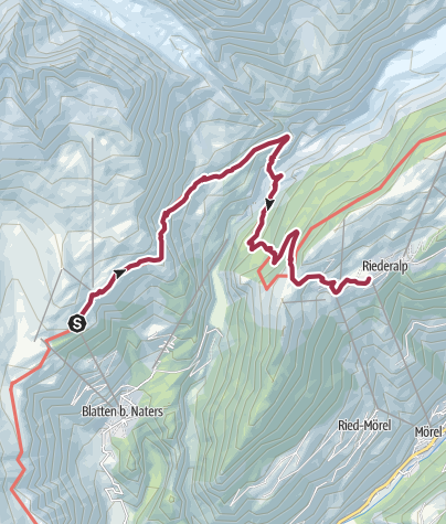 Map / Hike from Belalp to Riederalp via the suspension bridge