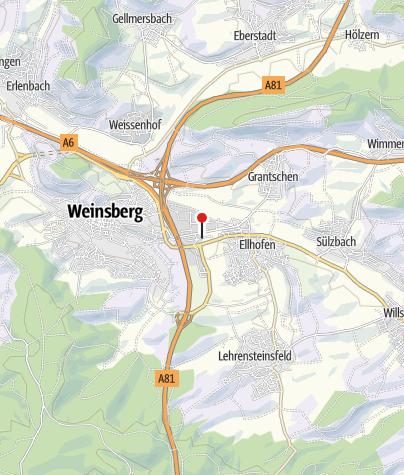 Karte / RadSERVICE-Punkt Ellhofen Gewerbegebiet