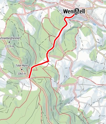 Karte / Wanderweg Wenigzell Nr. 920: Wenigzell - Toter Mann