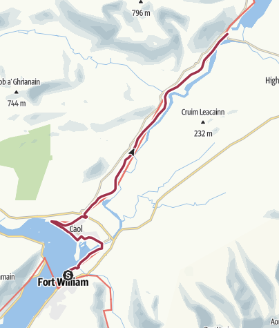 Map / Fort William to Gairlochy