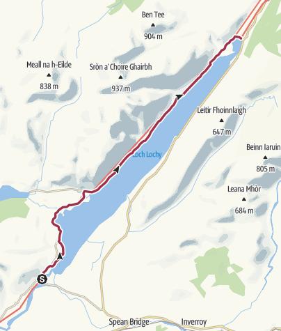 Map / Gairlochy to Laggan