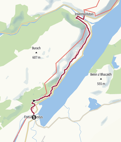 Map / Fort Augustus to Invermoriston (Low Route)