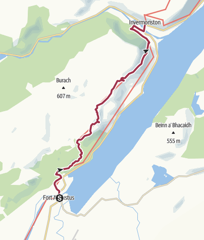 Map / Fort Augustus to Invermoriston (High Route)