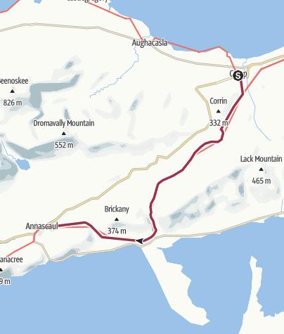 Map / Camp to Annascaul