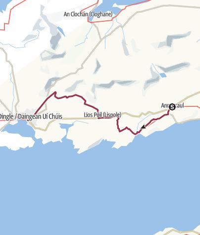 Map / Annascaul to Dingle