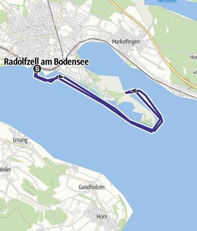 Karte / Mit dem Kanu um die Halbinsel Mettnau
