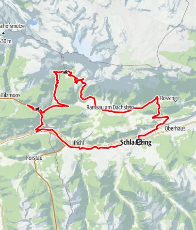 Mapa / Bike & Hike Tour Brandalm (with charging possibility)