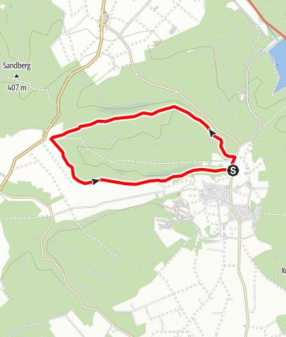 Karte / Bleiwäscher Bäche-Weg