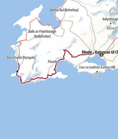 Map / Dingle to Dunquin