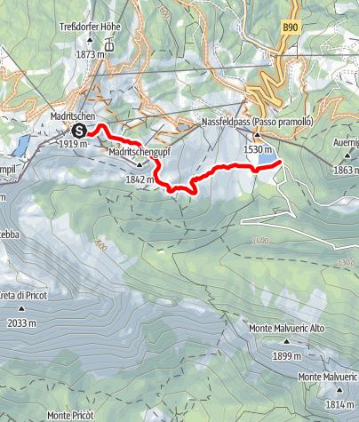 Karte / Nassfeld Singletrail - Livio