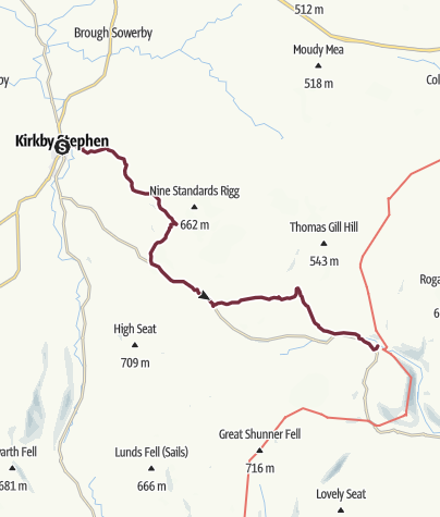 Map / Kirkby Stephen to Keld