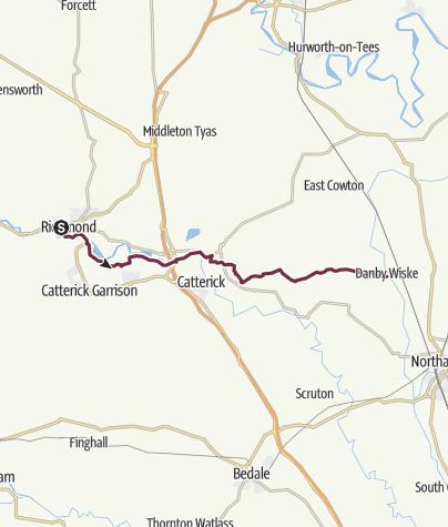 Kaart / Richmond to Danby Wiske