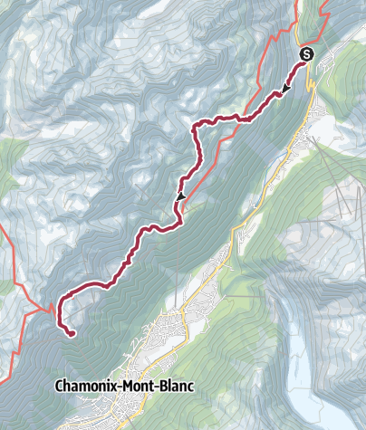 Map / Tré-le-Champ (Argentiere) to Planpraz via Lac Blanc and Le Flégère