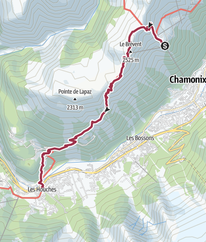 Map / Plan Praz to Les Houches