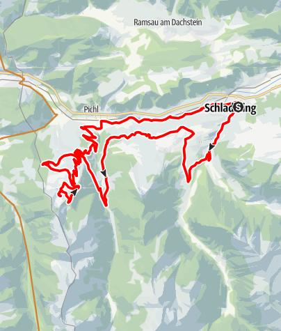 Mapa / Bike & Hike Tour Reiteralm (with charging possibility)