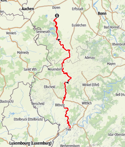 Karte / Felsenweg (4) - Gesamtverlauf