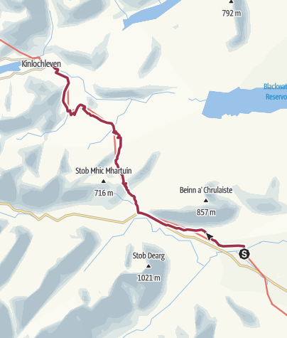 Map / Kingshouse to Kinlochleven