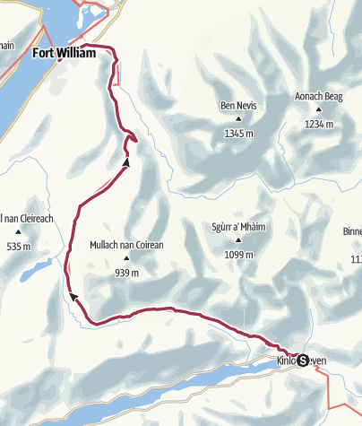 Map / Kinlochleven to Fort William