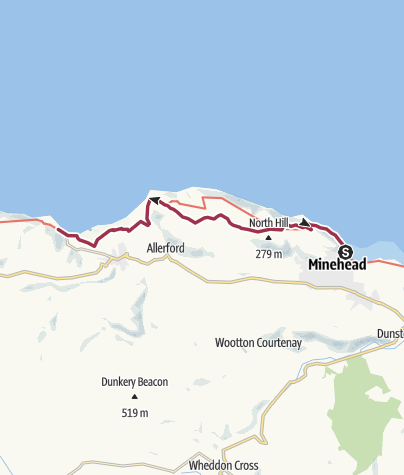 Map / Minehead to Porlock Weir